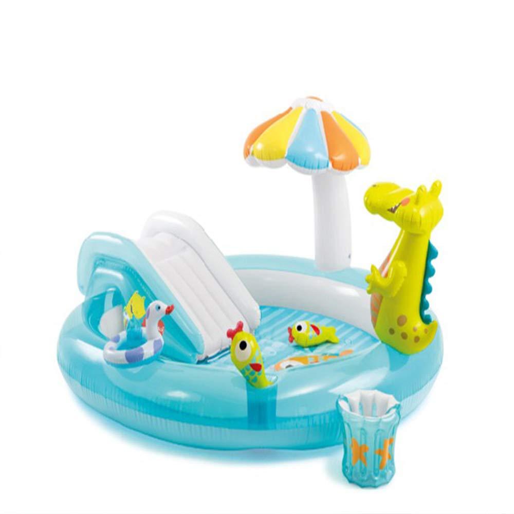 CQYYC Inflables De Piscina,Cocodrilo Tobogán acuático Piscina de Agua Inflable Piscina para niños Piscina de Arena para bebés Piscina de Bolas Marinas 57129
