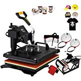 Mophorn Heat Press Machine 12x15 inch T-Shirt Heat Press Transfer Combo Swing-Away Presser Mug Hat Press 5IN1 Digital Multifunction Transfer (5in1 Presser)