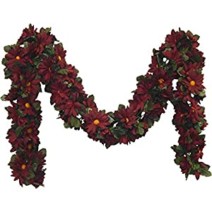 Kampoojoo - Burgundy Daisy Garland Silk Flowers Wedding Arch Chuppah Centerpieces 83