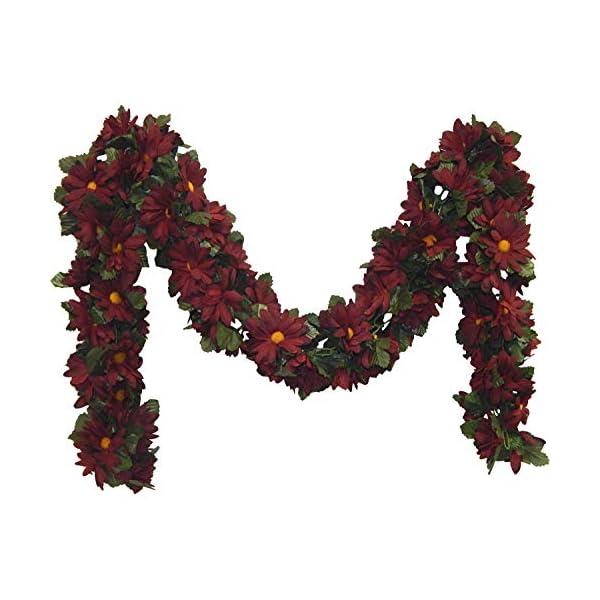 Kampoojoo – Burgundy Daisy Garland Silk Flowers Wedding Arch Chuppah Centerpieces