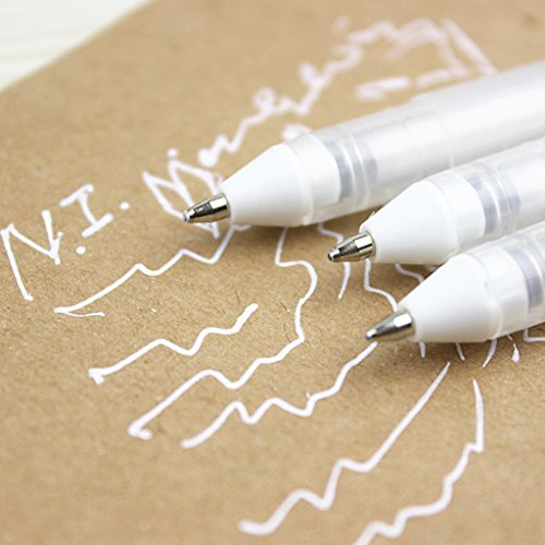 SELFON Pastel White Gouache Ink Gel Pen Ballpoint pen Drawing Stationery For Decorative Diary Card Marking (Ink Pastel)