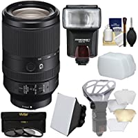 Sony Alpha E-Mount FE 70-300mm f/4.5-5.6 G OSS Zoom Lens with 3 UV/CPL/ND8 Filters + Flash + Diffuser + Softbox + Bouncer + Kit