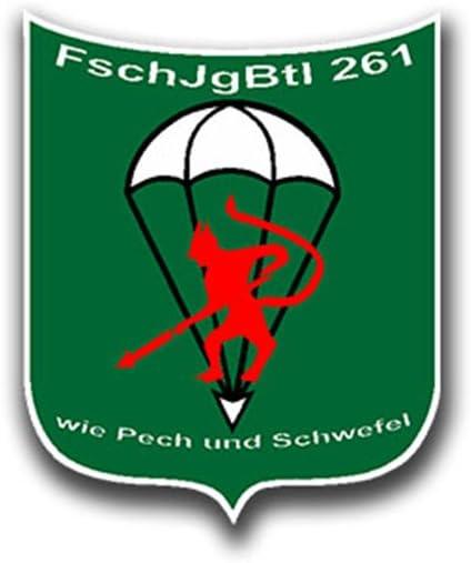 Aufkleber//Sticker FschJgBtl 261 Fallschirmj/ägerbataillon Bundeswehr 5x4cm A732