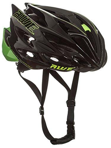 AWE® AWESpeedTM In-Mould Helm Erwachsene Männer Straßen-Radsport 56-58cm Schwarz-Grün