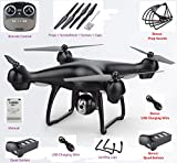 Upgraded S70W Dual GPS 1080p WIFI Quadcopter RTF 2.4Ghz Wide Angle HD Gimbal Camera - Live Video, Photography, Altitude Hold, Follow Me, Auto Takeoff & Land (Bonus 30 Min Fly Time) For Beginner To Pro