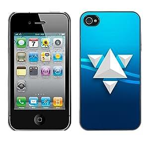 TECHCASE**Cubierta de la caja de protección la piel dura para el ** Apple iPhone 4 / 4S ** Triangle Art