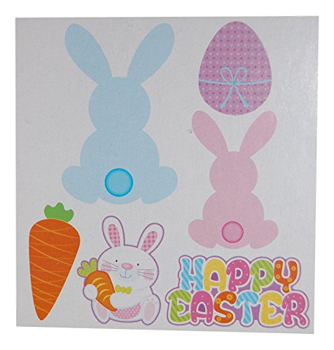 Easter Decorations, Easter Bunny Cut Outs and Banner ( 2 Pack, 7 Pieces ()