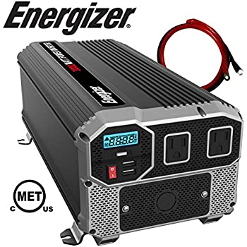 ENERGIZER 3000 Watt 12V Power Inverter, Dual 110V AC Outlets, Automotive Back Up Power Supply Car Inverter, Converts 12V DC to 120 Volt AC with 2 USB Ports ...