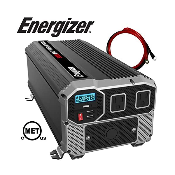 ENERGIZER-3000-Watt-12V-Power-Inverter-Dual-110V-AC-Outlets-Automotive-Back-Up-Power-Supply-Car-InverterConverts-120-Volt-AC-with-2-USB-Ports-24A-Each