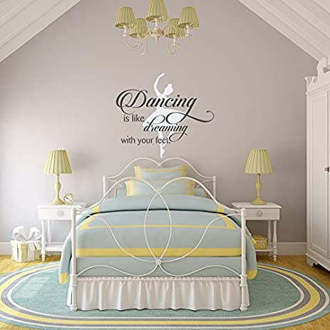 Amazing Dance Wall Decal Quote Dancing Is Like Dreaming With Your Feet Removable Decals  Dance Quotes Ballet