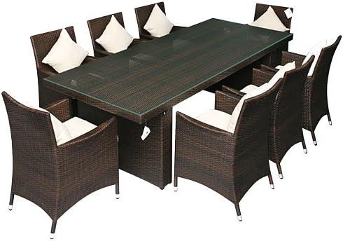 Muebles de Jardín Essgruppe con 2, 4 m mesa de aluminio ...