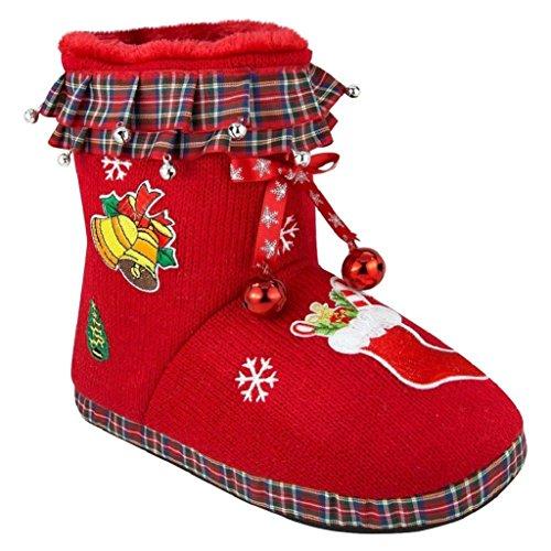 Ladies Ugly Christmas Slipper Stocking Stuffer Bootie Sli...