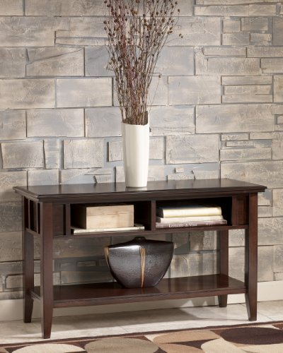 Metro Modern Sofa Console Table Accent Dark Brown Finish - Metro Modern Sofa