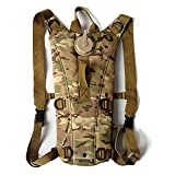 camo cooker - AENMIL Portable Tactical Military Army Style 3L Water Backpack Water Bladder 600D Nylon Water Resistant Water Army Bag with Drinking Tube for Climbing with Small Pouches (CP Camo)