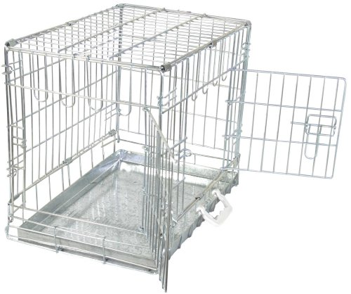 amazonbasics hundek fig mit 2 t ren metall. Black Bedroom Furniture Sets. Home Design Ideas