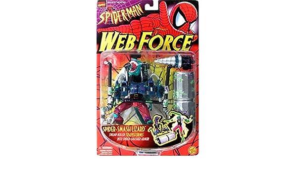 Spider-Man Web Force Smash Lizard Action Figure: Amazon.es ...