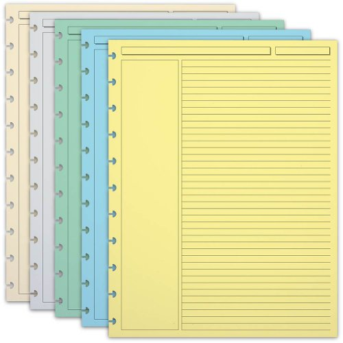 Levenger 300 Circa Multicolor 1/4-Inch, Ruled Refill Sheets LTR (ADS6165 LTR)