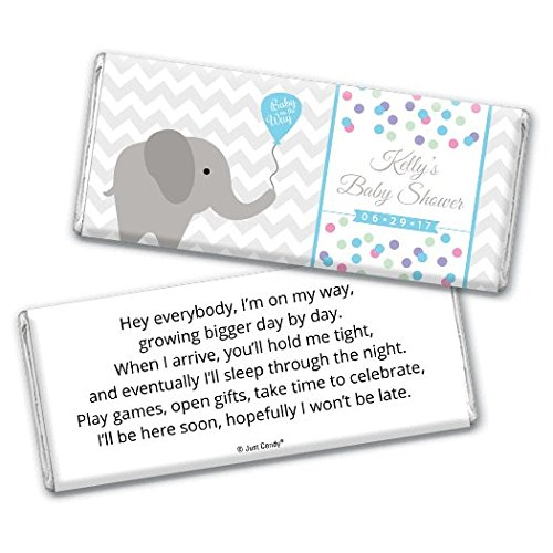 Baby Shower Candy Bar Wrappers - Elephant Theme (25 wrappers) -
