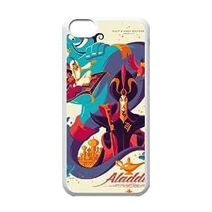 Disneys Aladdin and Jasmine Funda iPhone 5c Funda Caja del teléfono celular blanco Q1G1LU