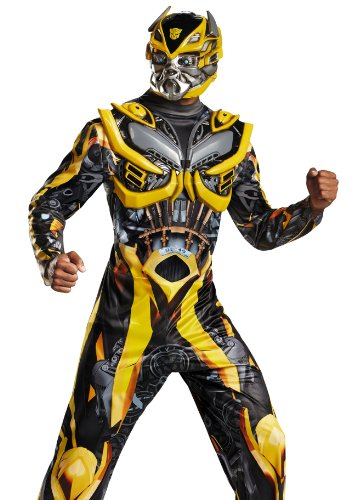 Disguise Men's Hasbro Transformers Age Of Extinction Movie Bumblebee Deluxe Costume, Yellow/Black, X-Large/42-46 for $<!--$59.99-->
