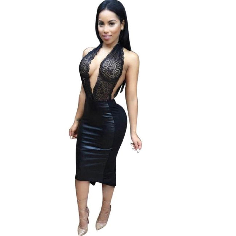 Women's Cocktail Club Dress, Mosunx(TM) Backless Bandage Bodycon Dress