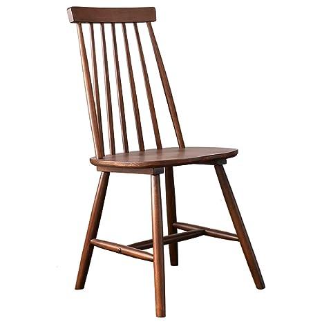 Amazon.com: Silla de oficina de madera maciza, silla trasera ...