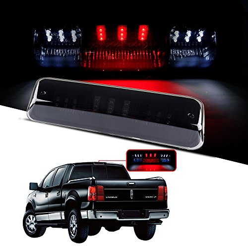 CCIYU LED 3rd Brake Lights Cargo Lamp Assembly Automotive Tail Lights Smoke Lens for 2004-2008 Ford F-150 2007-2010 Ford Explorer Sport Trac 2006-2008 Lincoln Mark LT
