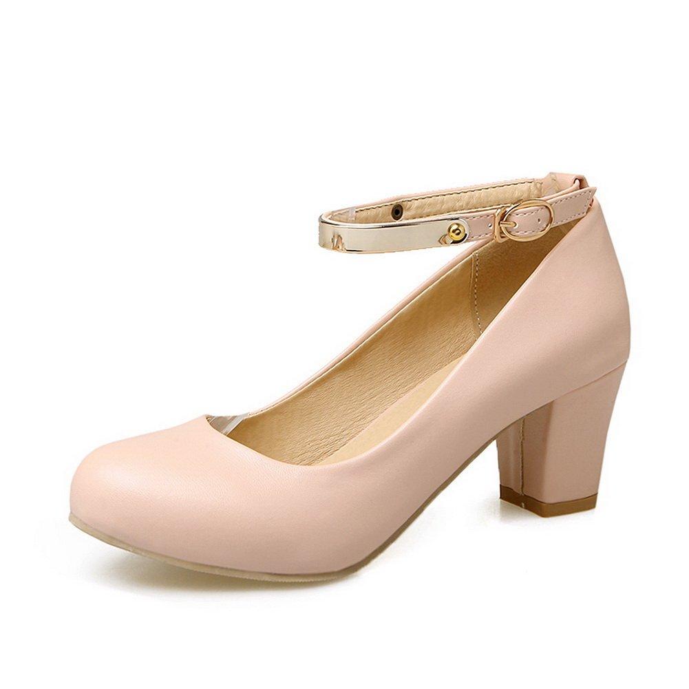 A&NDgu00332 - Sandali con Zeppa donna, rosa (Pink), 35 -