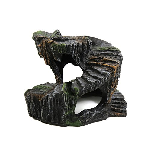 uxcell Resin Turtle Revolve Climb Stone Cave Shelter Hiding Spot Ornament for Aquarium by uxcell