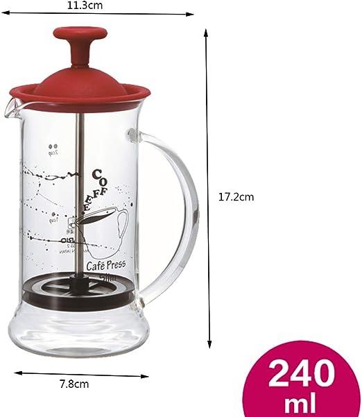 Prensa Francesa Cafetera de una Sola porción por Clever Chef | Prensa Francesa pequeña café de la mañana | Preparador de café de máximo Sabor con Capacidad de filtración Superior (0: Amazon.es: Hogar
