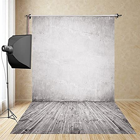 FUS 5X7FT Latest Silk Photography Background Christmas Backdrop white wall FT-3602
