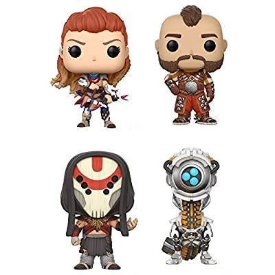 POP Games: Horizon Zero Dawn Aloy, Erend, Eclipse Cultist, Watcher Vinyl Figures Set: Toys & Games