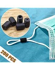 Cierre de cordón de silicona,Cerraduras de cable Palancas de silicona para cordones Cordón elástico T. cara, Hebillas de ajuste de silicona Ajustador Tope antideslizante