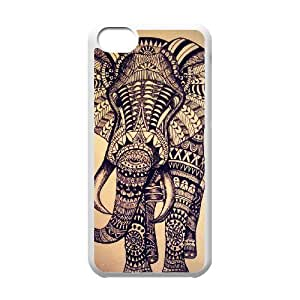 LIULAOSHI Fashion Aztec Animal Phone Case for iphone5c White [Pattern-6] by Maris's Diary