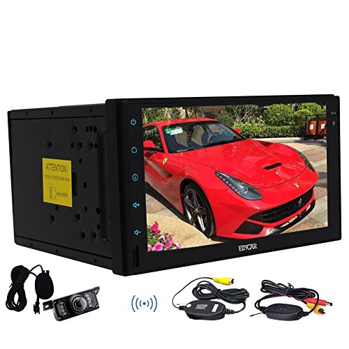 Wireless Camera Include Quad-core Stereo Autoradio Double din Android 6.0 Marshmallow Autoradio Bluetooth GPS Navigation Headunit Support Dual-Camera External Microphone WiFi/OBD/Mirror Link