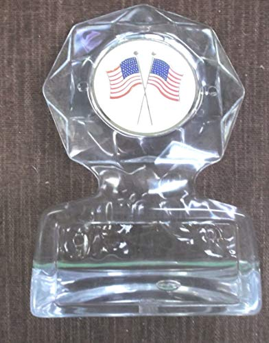 (American Flag Insert Trophy ice Acrylic Economy Award)