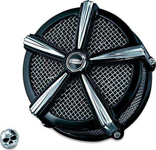 Kuryakyn 9535 Mach 2 Air Cleaner/Filter Kit for 1999-2017 Harley-Davidson Twin Cam, Delphi EFI Motorcycles, - Cleaner Twin Velocity Air