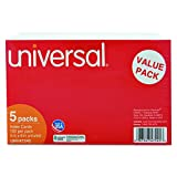 Universal 47245 Unruled Index Cards, 5 x 8, White (Pack of 500)