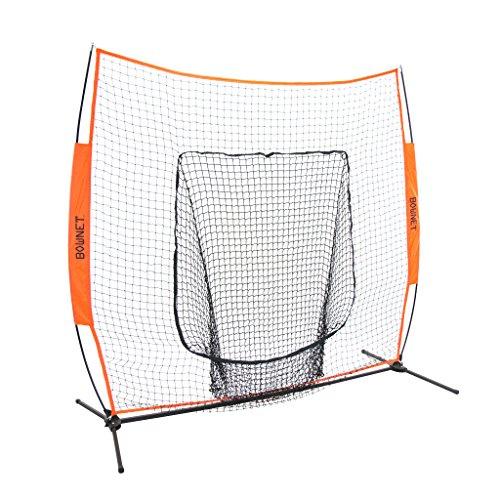 Bownet 7' x 7' Big Mouth X Baseball/Softball Hitting and Training Net, Orange