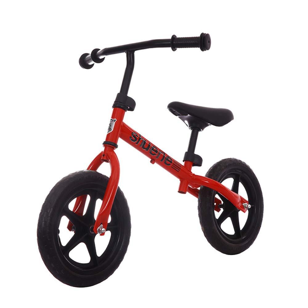 FAHBN 12インチ バランス 自転車 マグネシウム合金 子供用 インペラー 学習ホイール 2歳から5歳の男の子と女の子用 12'' レッド B07MM571R8