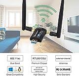 Techkey Wireless USB WiFi Adapter, 1200Mbps Dual