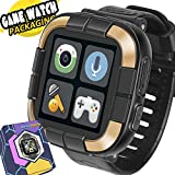 [Smart Watch for Kids] Walkie Talkie Watches with Game Digital Camera Alarm Timer Stopwatch, Touchscreen Smartwatch, Kids Watches Prime Summer Travel Holiday Gift Boys Girls Children, Black