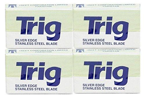 40 Treet Trig Silver Edge Double Edge Razor Blades