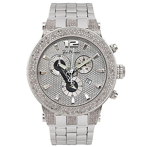 Joe Rodeo Diamond Men's Watch - BROADWAY silver 5 ctw by Joe Rodeo
