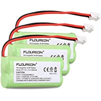 6 Floureon Home Phone Battery for AT&T/Lucent 3101 3111 BT-8001 BT-8300 SL82118 SL82208 SL82218 SL82308 SL82318 SL82408 SL82418 SL82518 SL82558 SL82658 Philips SJB-2121 BT1011