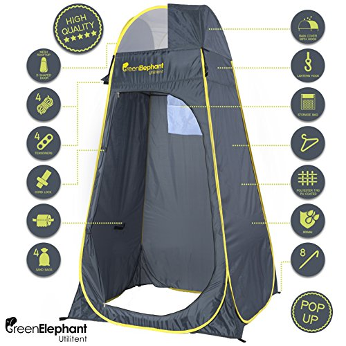 Green Elephant Utilitent Privacy Pop Up Tent – Portable Camping, Toilet, Beach and Changing Room Tent Shelter.