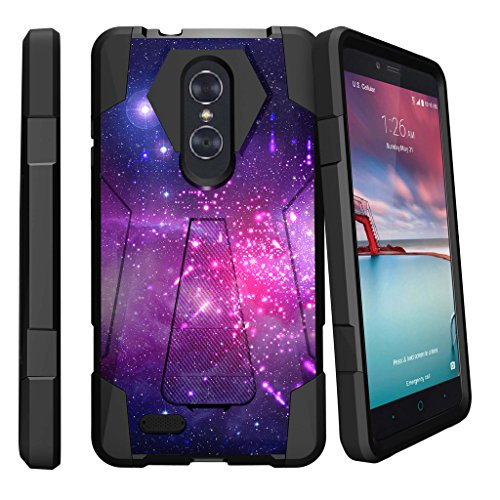 MINITURTLE Case Compatible w/ MINITURTLE DualKayer Case Compatible w/ ZTE Carry, ZTE Blade X Max & ZTE Carry [Shock Fusion Stand ] [Vertical/Horizontal Stand] Heavenly Stars (Heavenly Stars)