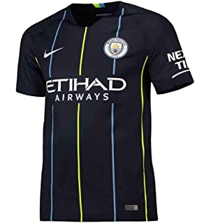 NIKE 2018-2019 Man City Away Football Shirt (Kids)