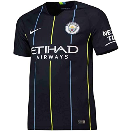 80c08f7281c NIKE 2018-2019 Youth Manchester City FC Away Stadium Jersey (Dark Obsidian)  (