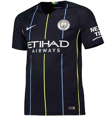 NIKE 2018-2019 Youth Manchester City FC Away Stadium Jersey (Dark Obsidian)  ( ad726555f